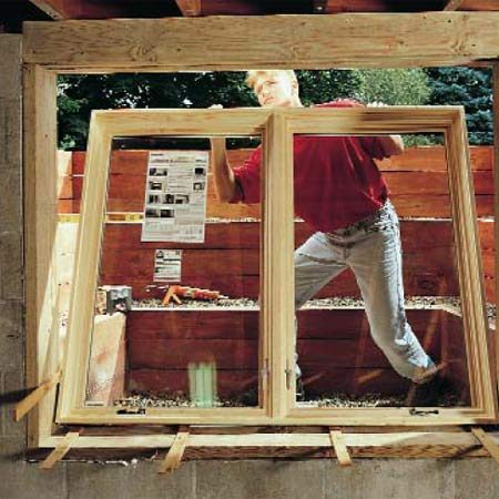 <b>Finally, install the window.</b></br> Your new window provides natural light and a safe emergency escape.