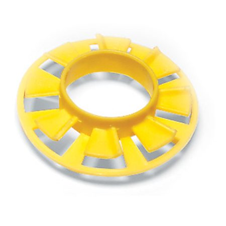 <b>Cable bushing</b></br> Plastic electrical cable bushing protects the wire from the sharp edges of metal studs