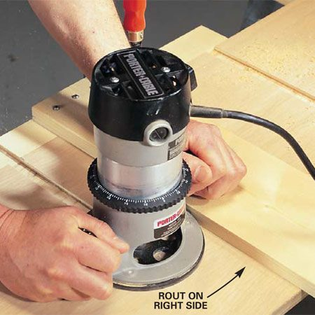 <b>Photo 2: Rout the dado</b></br> Cut the dado using the 1x6 as a guide.