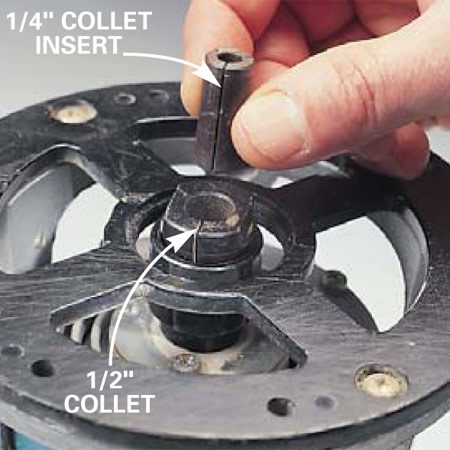 Adapting collet size