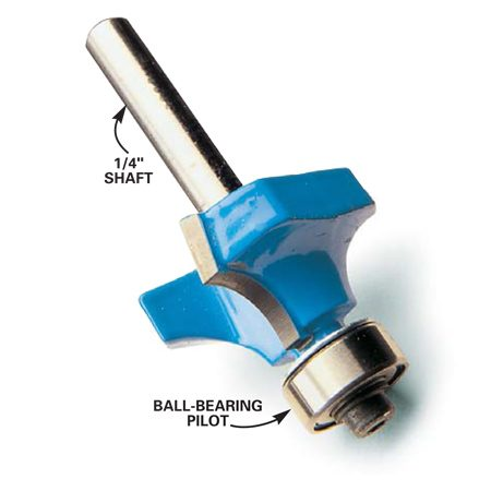 Carbide-tipped router bit