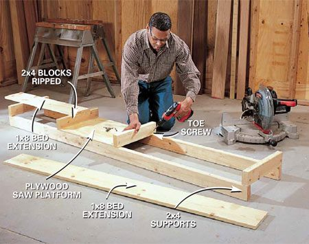 How to Use a Power Miter Saw | The Family Handyman