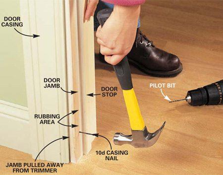 install interior door jamb image collections doors design ideas replace door frame interior indiepedia how to - Door Frame Repair Kit