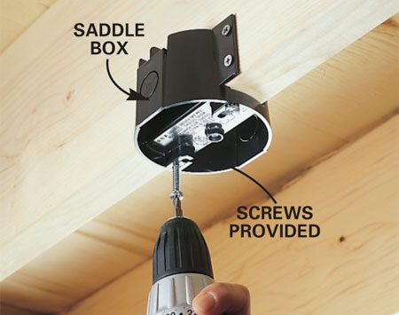 <b>Saddle box</b></br> Special box: Light fixture or paddle fan box