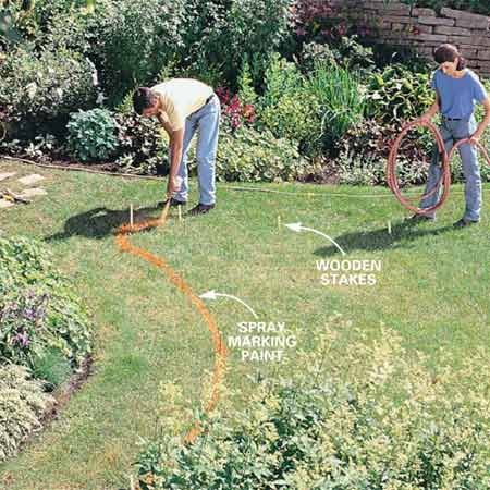 How to build a stone path the family handyman photo 1 design the path workwithnaturefo