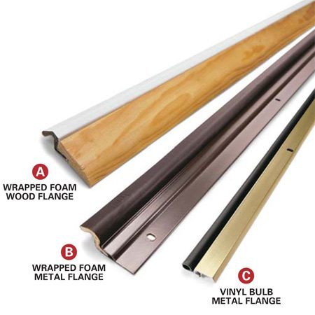 Common weatherstripping types