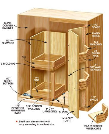 <b>Glide-out shelf</b></br> Shelf unit dimensions will vary according to cabinet size