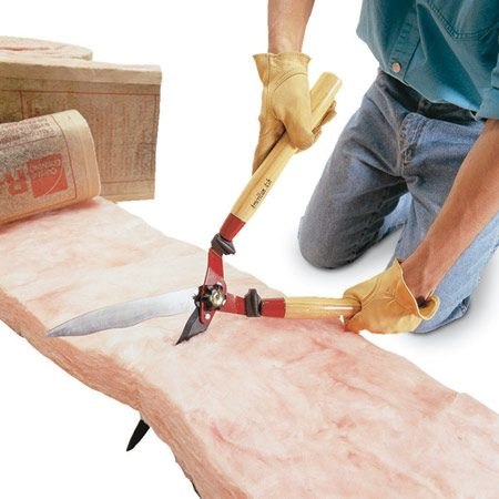 <b>Use hedge shears</b></br> <p>Here's a  faster, cleaner way to cut fiberglass insulation.   Use a hedge  shears to slice through the insulation.   Unlike a  utility knife, the shears won't spread   loose tufts  of insulation all over, and the best part is,   you stay itch free. </p>