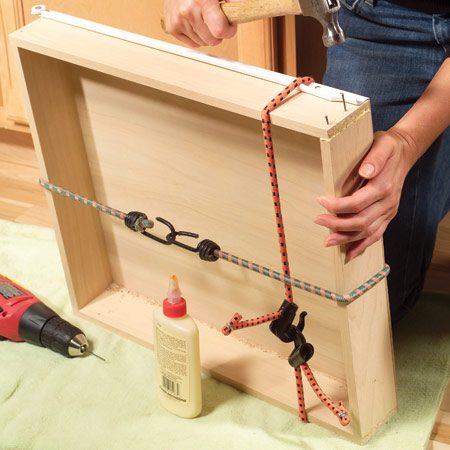 <b>Predrill nails holes and glue the joint</b></br> <p>Predrill  1/16-in. holes for nails, apply wood glue to   the joint  and nail it together with 1-1/2   in. finish  nails. Wood glue will make a strong   repair if  there's wood-to-wood contact   at the  joint. If the wood at the joint is   coated, use epoxy instead of wood glue. </p>