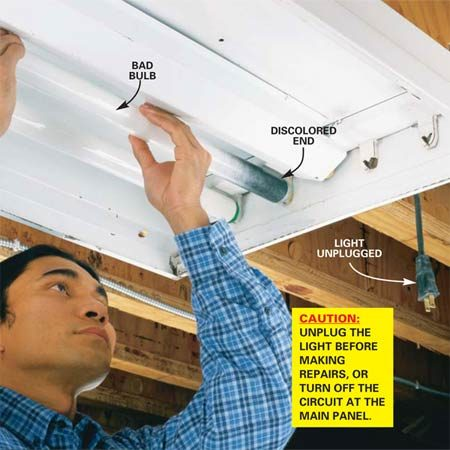 How To Replace A Fluorescent Light Bulb | The Family Handyman