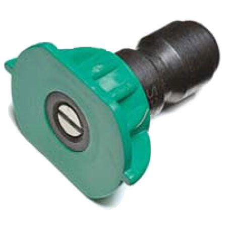 <b>Close up of sprayer tip</b></br> You'll need both a 25-degree (less aggressive) and a 15-degree (more aggressive) sprayer tip.