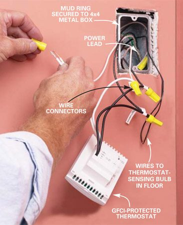 how to install in floor heat the family handyman photo 10 finish the wiring