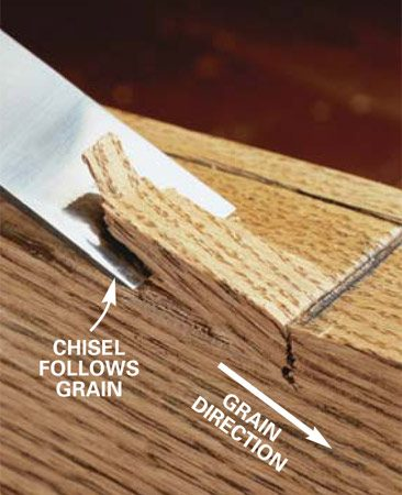 Cutting with the grain
