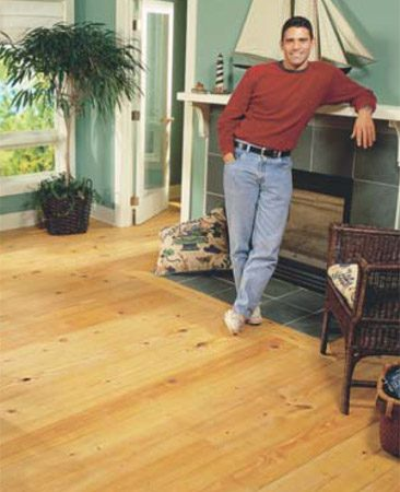 <b>Pine floors look even better as they age. </b></br> Pine floors are available in a variety of widths and grades.