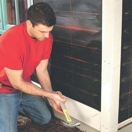<b>Installing fiber cement siding</b></br> Fiber cement looks identical to wood once it's painted.