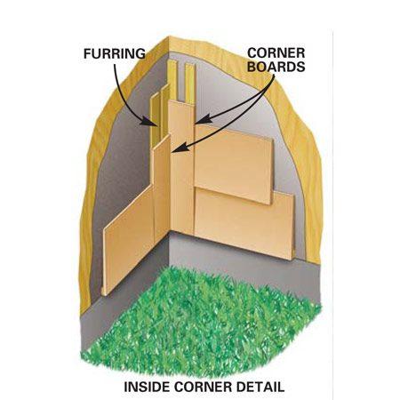 <b>Inside corner detail</b></br> Lap inside corners the same way as outside corners.