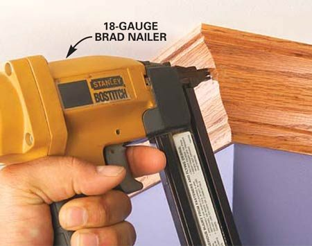 <b>Photo 5: Solution: Use a smaller nail</b></br> Brad nailers are better for work that's close to edges