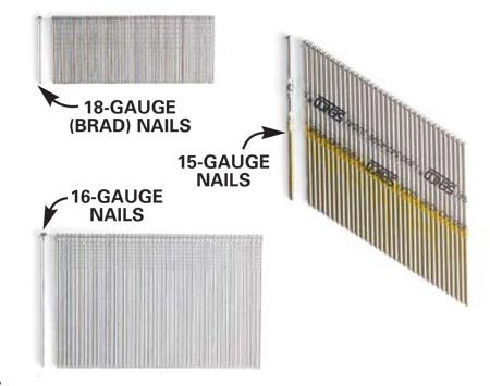 <b>Different nail sizes</b></br> Be sure to get the right size nails for the job.