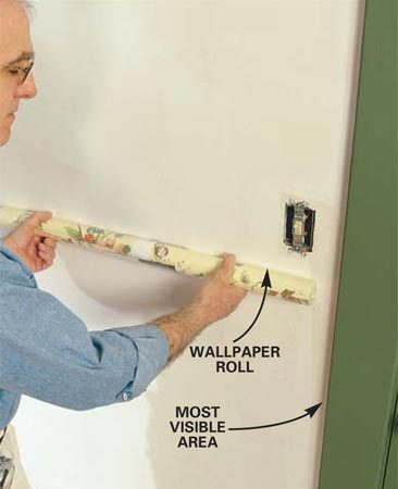 how to hang prepasted wallpaper on ceiling