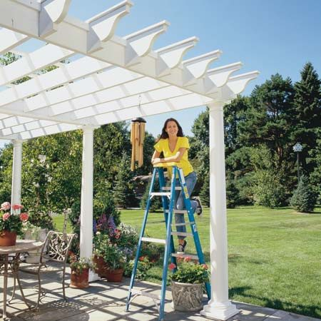 <b>A beautiful addition to your yard</b></br> Building the pergola over an existing patio (instead of building a new one) saves you a lot of time, money and work.