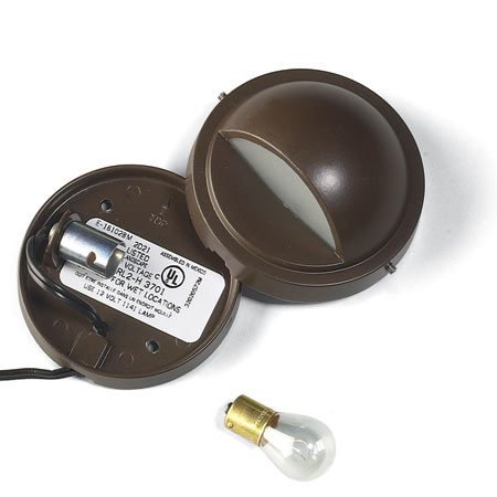 <b>Photo 1A: Close-up of stair light fixture</b></br> Stair light parts
