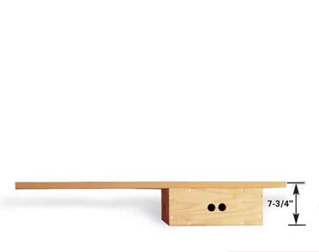 <b>Low workbench</b></br> Lay the ABC box flat to create a good working height for chairs.