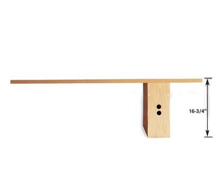 <b>Mid-height bench</b></br> For a somewhat higher bench, lay the box on the long side.