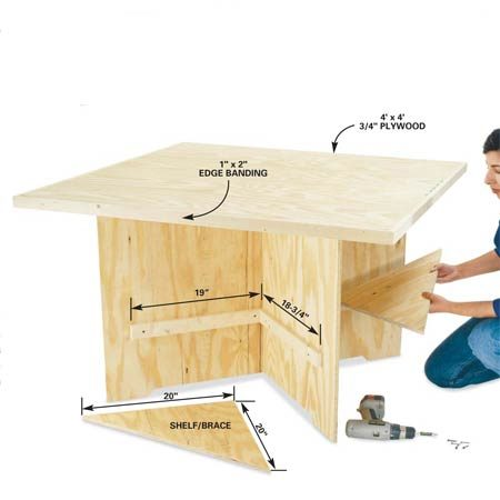 <b>Shelves</b></br> Add optional shelves for storage and stability.