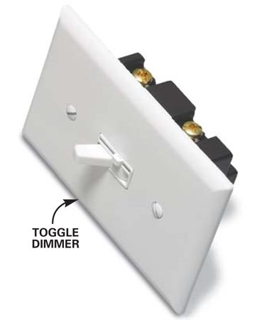 Toggle dimmer switch