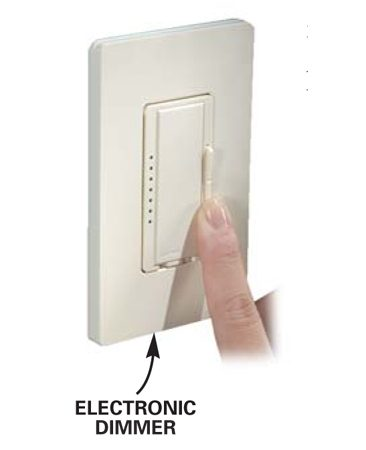 Electronic dimmer switch
