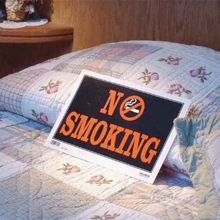 Stop smoking in bed