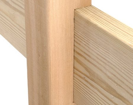 <b>A cleanly notched post</b></br> A cleanly notched post will fit the beam perfectly and when bolted, make a solid joint.