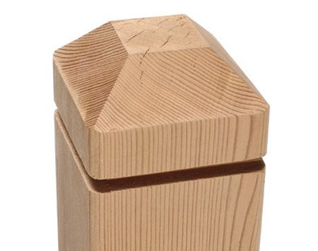 <b>Crisply cut post top</b></br> All the cuts on an accurately cut post top should meet precisely.