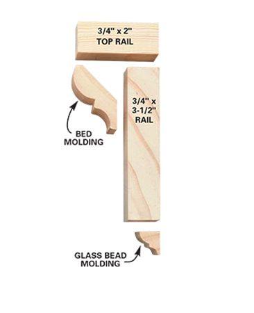 Chair rail parts