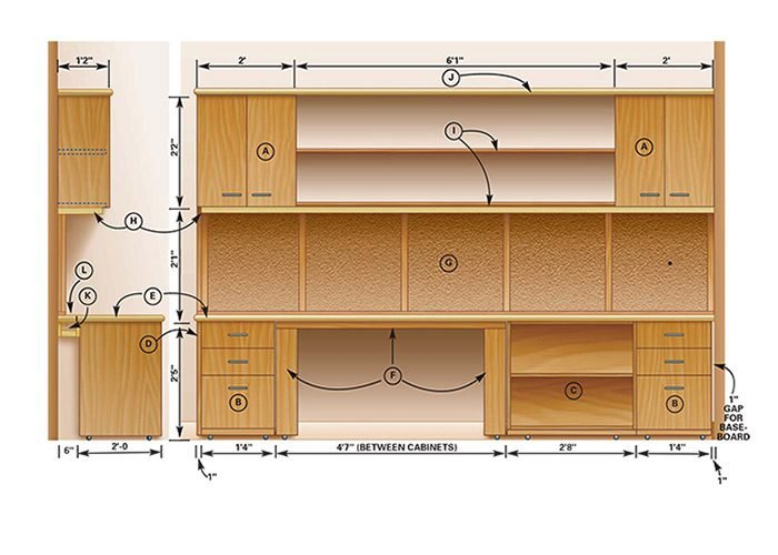 How to build a home office the family handyman for Diy home building plans