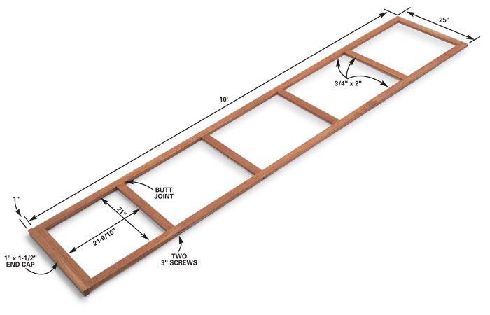 Figure D: Corkboard frame