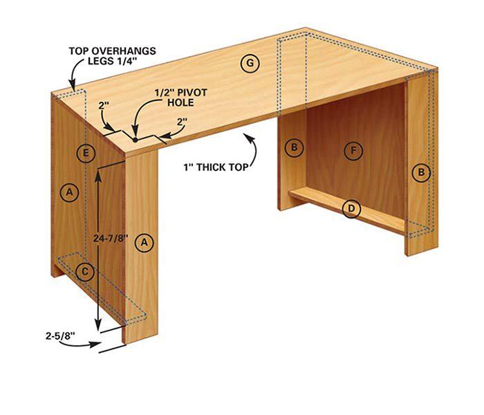 Figure F: Swing-out desktop