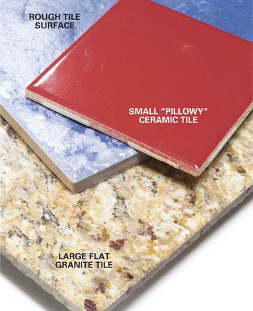 <b>Tile</b></br> Tile offers a wide variety of colors and designs.