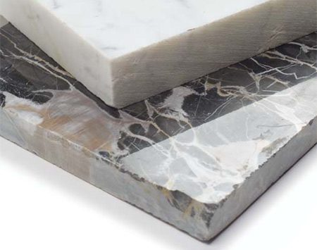 <b>Photo 1: Marble</b></br> Marble is beautiful but fragile and likely to stain.
