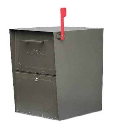 <b>Install a secure mailbox</b></br> <p>Once the mail is dropped in a secure mailbox, you need a key to open it. Security mailboxes like the one shown here are available online or at some home centers. Just screw it to the wall or post as you would a standard mailbox.</p>