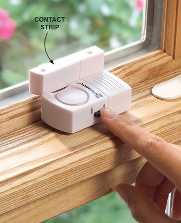 "<b>Wireless window alarms are effective</b></br> <p>Keeping doors and windows locked is your first line of defense. Make wireless alarms your second. The alarms are activated by doors or windows opening. Burglars hate noises, so even a small alarm usually sends them running. The alarms are available at home centers or search online. Use the alarms for doors and windows in ""hidden"" areas of the house where you don't normally gather and that are often dark.</p>"