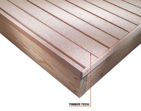 <b>Timber Tech</b></br> Timber Tech is one brand of hollow, lightweight decking with a novel fastening system