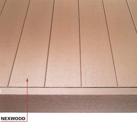 <b>Tongue-and-groove systems</b></br> Tighter spacing and tongue-and-groove systems create a slightly different deck appearance and partially shed water.
