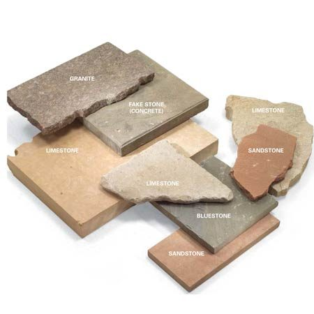 <b>Types of stone</b></br> Natural stone for paths is available in many colors and sizes