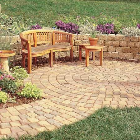 <b>Photo 1:  Pavers are more formal</b></br> Pavers are designed to lie in a tight pattern. Colors and patterns vary widely.