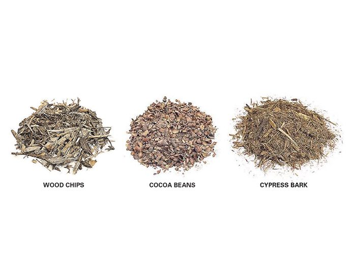 Mulches suitable for trench borders.