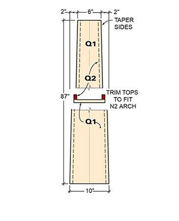 Detail 4: Column assembly