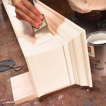 <b>Photo 11: Prime the wood</b></br> Prime the wood and lightly sand it with 150-grit sandpaper before applying your choice of paint.