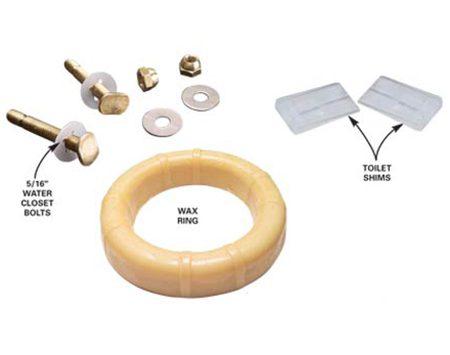 Bolts, shims and wax ring
