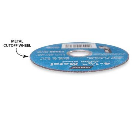 <b>Metal cutoff wheel</b></br> Use an inexpensive metal-cutting blade for rough cutting metal.